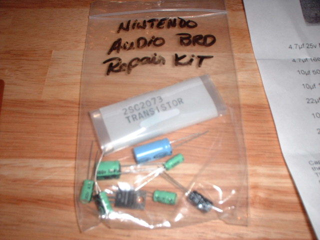 A typical cap kit, just a few new capacitors, this is from Bob Roberts